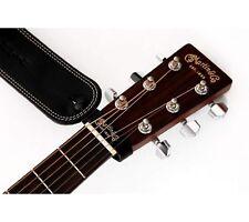 19.5cm 2x Mikrofaser Lederband mit Knopf für alle Standard Gitarrengurt