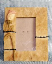 Hand Painted 3 D A ROSE Resin Photo Picture Frame