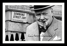 WINSTON CHURCHILL AUTOGRAPHED SIGNED & FRAMED PP POSTER PHOTO