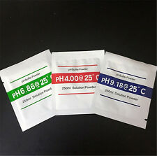 3x PH Buffer Solution Powder PH Test Meter Measure Calibration 4.00 6.86 9.18 FO
