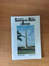 ASSOCIATION NATIONALE SOUVENIR DE L'ARMEE D'AFRIQUE juillet 2000 numéro