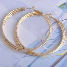 BRAND NEW - 9K Yellow Gold Filled Womens Hoop Earrings. 50cm  *