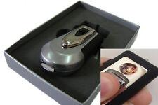 SILVER MATCH AUFLADBAR USB- FEUERZEUG GLÜHSPIRALE ZIGARETTEN ANZÜNDER SILBER