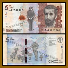 Colombia 5000 (5,000) Pesos, 2015 (2016) P-459 Unc
