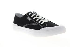 HUF Classic LO ESS TX VC00003 Mens Black Canvas Surf Skate Sneakers Shoes 5