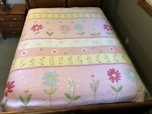Pottery Barn Kids Daisy Flower 🌸 Garden Quilt Full/Queen