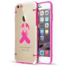 For Apple iPhone Slim Clear TPU Case Cover Color Awareness Ribbon Breast Cancer