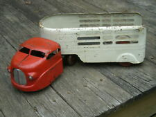 Vintage Wyandotte Original Pressed Steel EXPRESS 1940's Toy Cab & Trailer
