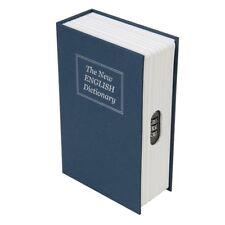 Caja de seguridad estilo libro con combinación de 3 dígitos 534361