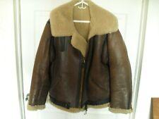 Vtg WW2 Era Leather Bomber Flight Aviator Jacket Quarter Master Shearling WW II