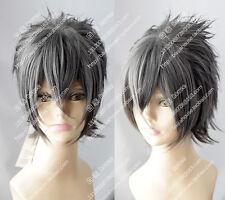 cosplay wig Noctis Lucis Caelum Final Fantasy XV 15 Dark Gray Short hair wig