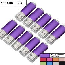 10PCS 2GB USB Stick Flash Drive 2.0 Storage Data Pen Swivel U Disk Lot