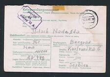 02407) prigionieri di guerra posta STALAG XI vecchi a Grabow 17.4.44, più raramente formulario