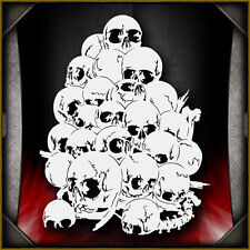Skull Background 15 -  Airbrush Stencil Template Airsick