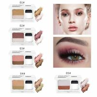 3 Second Quick Makeup Double Color Eye Shadow Glitter Makeup Eyeshadow Palette