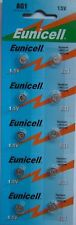10 EUNICELL AG1 1.5V Button Coin Cell Batteries Battery QX5