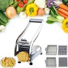Stainless Steel French Fry Cutter Potato Vegetable Slicer Chopper Dicer 2 Blades