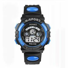 Digital Sport Wrist Watch Led Light Alarm Date Children Kids Boy's Gift UK