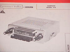 1963 SAMPSON AM RADIO SERVICE MANUAL MODEL 55A CHEVROLET FORD CHRYSLER DODGE