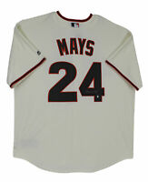 Giants Willie Mays Authentic Signed Cream Majestic Jersey Player hologram