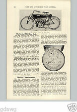 1905 PAPER AD 1906 Curtiss Motorcycle 2.5 & 5 HP 2 Cylinder Twin Article Specs