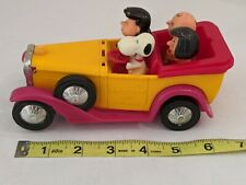 Peanuts Snoopy & Friends Convertible Car Aviva 1972 Vintage The gangs all here!