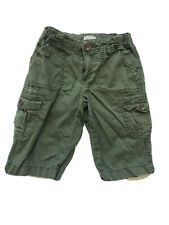 The Childrens Place Boys Olive Green khaki Cargo Shorts 8
