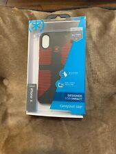 Speck Candyshell Grip - iPhone XS / X -  Black with Red