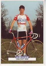 CYCLISME carte cycliste OMLOOP WIM équipe LA WILLIAM DUVEL 1993
