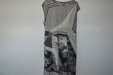 WHITE STUFF monochrome black and white paisley tea dress size uk 18