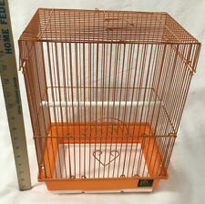 "Prevue Hendrix Orange Parakeet Bird Cage 15"" x 11 1/2"" x 9"" Excellent Condition"