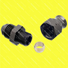 "AN6 Male to 5/16"" (8mm) Hardline Tube Fitting Adapter - Black"