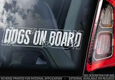 Dogs on Board - Car Window Sticker - Dog Sign Art Gift - TYP1