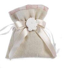 36 pezzi Sacchetti portaconfetti rosa con carrozzina  gesso Mandorle Bomboniere