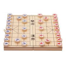 XIANGQI Wood Chinese Chess Travel Game Storage Box Folding Chessboard 29x29cm