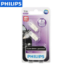 Philips 6000K T10 W5W Vision Xenon White LED Bulbs License Plate Parking Lights