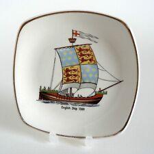 MIDWINTER HISTORIC SHIPS ENGLISH SHIP 1300 PIN TRAY PICKLE DISH VINTAGE F42 VGC