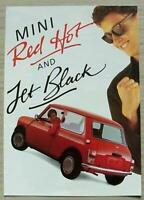 MINI RED HOT & JET BLACK Special Edition Sales Brochure c1988 ITALIAN #EO467