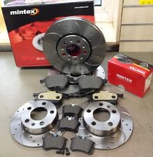 AUDI A3 2.0 140 8P MINTEX DRILLED GROOVED BRAKE DISCS MINTEX PADS FRONT REAR
