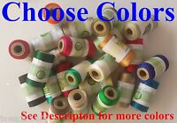 Embroidery Machine Thread Spools for Brother,Janome, Singer more, Choose Colors