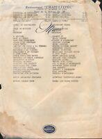 Vintage CHAPULTEPEC Restaurant Menu Carta Blanca Cerveza 1952