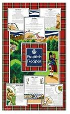 Recipes of Scotland Tea Towels Souvenir Gift Scottish Tartan Haggis Broth Cotton