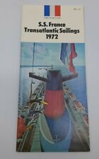 S.S France Transatlantic Sailings 1972 Brochure