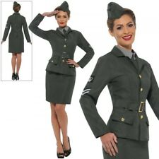 Ww2 Army Girl Costume Green With Jacket Mock Shirt S (us Import) Cost-w