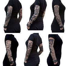 6 x Nylon Tattoo  Ärmel - TOTENKOPF - SKULL - Einzeln oder als Set
