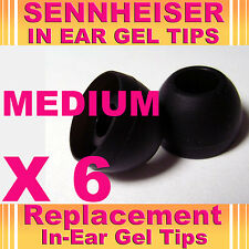 6 Sennheiser CX IE In Ear Buds HeadPhones Headset Earphones Gel Tips Medium