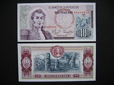 COLOMBIA  10 Pesos Oro 7.8.1980  (P407g)  UNC