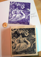 "P1  Snow Queen rubber stamp 3.5x3.25"" WM"