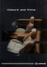 Lexus Colour & Trim 1997-98 UK Market Foldout Brochure GS 300 & LS 400