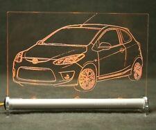 Mazda 2   als  AutoGravur auf LED-Leuchtschild display